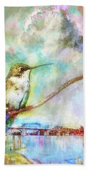 Hummingbird By The Chattanooga Riverfront Hand Towel