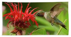 Hummingbird Delight Bath Towel