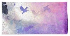 Bath Towel featuring the digital art Hummingbird Dreams by Judy Hall-Folde