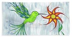 Hummingbird Floral Hand Towel