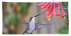 Hummingbird Happiness 2 Hand Towel by Kerri Farley