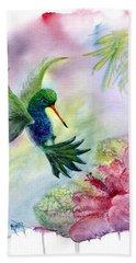 Hummingbird Happiness Hand Towel