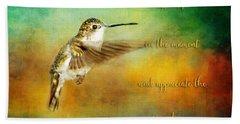 Hummingbird Hover Hand Towel