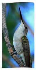 Hummingbird II Hand Towel by Paul Marto