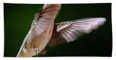 Hummingbird In Flight Hand Towel