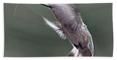 Hummingbird In The Country Bath Towel