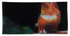 Hummingbird Bath Towel by Jean Cormier