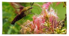 Hand Towel featuring the photograph Hummingbird Moth by Phyllis Beiser