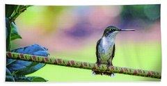 Hummingbird On Watch Hand Towel