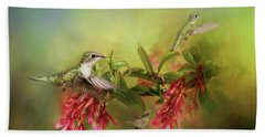 Hummingbird Paradise Bath Towel
