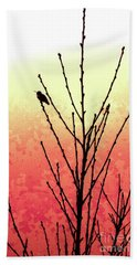Hummingbird Peach Tree Bath Towel by Gem S Visionary