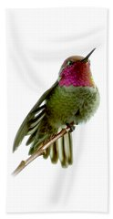 Hummingbird Portrait T1 Bath Towel