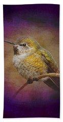 Hand Towel featuring the digital art Hummingbird Rufous by John Wills