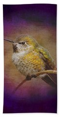 Bath Towel featuring the digital art Hummingbird Rufous by John Wills