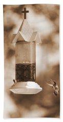 Hummingbird - Sepia Hand Towel