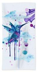 Hummingbird Skeleton 2.0 Bath Towel
