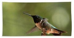 Hummingbird Take-off Hand Towel