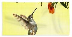 Hummingbird Under The Floral Canopy Bath Towel