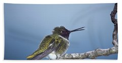Hummingbird12 Bath Towel by Loni Collins