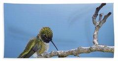 Hummingbird13 Bath Towel by Loni Collins