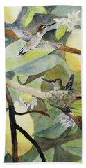 Hummingbirds And Lemons Bath Towel