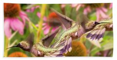 Hummingbirds Autumn Is Near Bath Towel