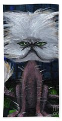Humorous Cat Hand Towel