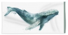 Humpback Whale From Whales Chart Bath Towel