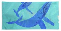 Humpback Whales Hand Towel