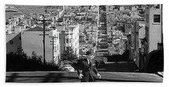 Humphrey Bogart Film Noir Dark Passage Telegraph Hill And Coit Tower San Francisco 1947 Hand Towel