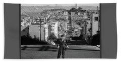 Humphrey Bogart Film Noir Dark Passage Telegraph Hill And Coit Tower San Francisco 1947 Bath Towel