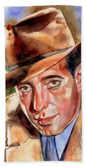 Humphrey Bogart Portrait Bath Towel