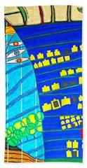 Hundertwasser Blue Moon Atlantis Escape To Outer Space Bath Towel