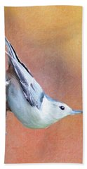 Hungry Nuthatch Bath Towel