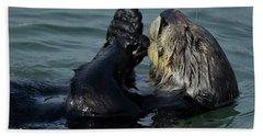 Hungry Sea Otter Hand Towel