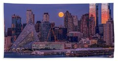 Hunter's Moon Over Ny Bath Towel