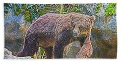 Hunting Bear Hand Towel