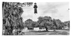Hunting Island Lighthouse Bath Towel