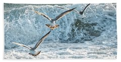 Hunting The Waves Hand Towel by Don Durfee