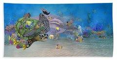 Huntington Beach Imaginative  Hand Towel by Betsy Knapp