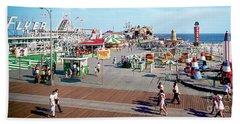Hunts Pier In The 1960's, Wildwood Nj Sixties Panorama Photograph. Copyright Aladdin Color Inc. Hand Towel