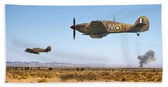 Bath Towel featuring the photograph Hurricane - Tank Busters by Pat Speirs