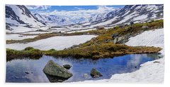 Bath Towel featuring the photograph Hut In The Mountains by Dmytro Korol