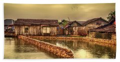 Bath Towel featuring the photograph Huts 2 by Charuhas Images
