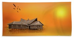 Huts Hand Towel by Charuhas Images