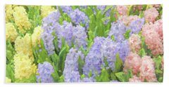 Bath Towel featuring the photograph Hyacinth Flowers In The Spring Garden by Jennie Marie Schell
