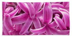 Hand Towel featuring the photograph Hyacinth Pink Pearl by Rona Black