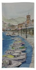 Hydra Clock Tower Hand Towel