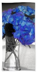 Hydrangea In Glass Hand Towel by Donna Bentley