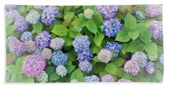 Hydrangea Play Hand Towel by Ann Johndro-Collins